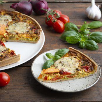 Paprika-Mozzarella Tarte